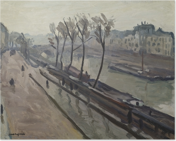 Albert Marquet - Wharf of Grands-Augustins in the rain Poster - Reproductions