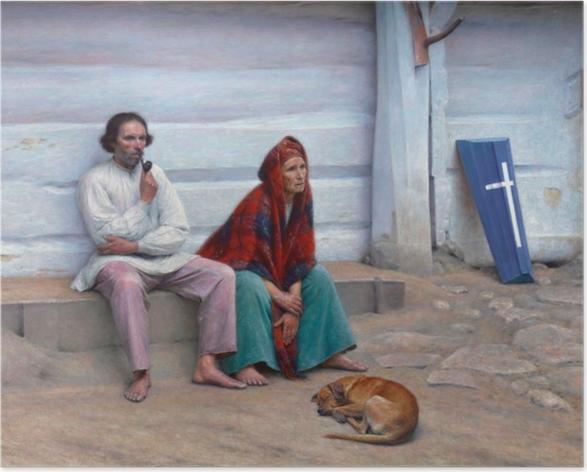 Poster Aleksander Gierymski - Cercueil paysan - Reproductions