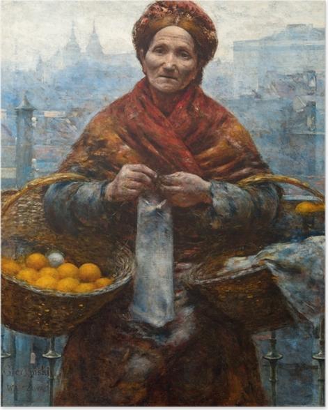 Poster Aleksander Gierymski - Juive avec des oranges - Reproductions