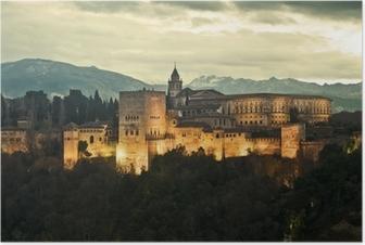 Poster Alhambra bij Schemer