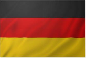 Poster Allemagne drapeau