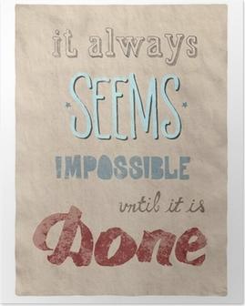 Poster Allt är möjligt affisch