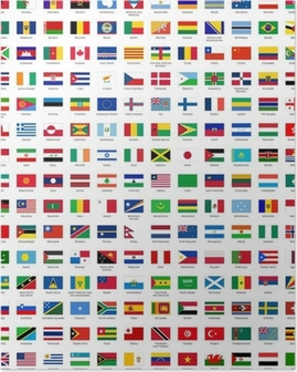 alphabetically sorted flags of the world Poster