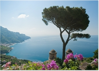 Amalfi coast view Poster