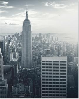 Amazing view to New York Manhattan at sunset Poster