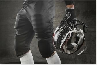 Poster American football uniform