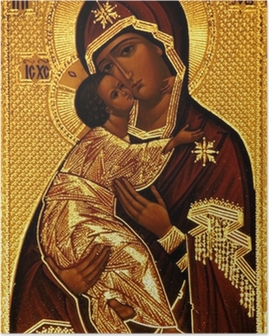 An orthodox icon of Mary, Vladimirskaya Poster