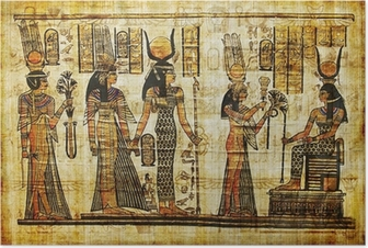 ancient egyptian parchment Poster