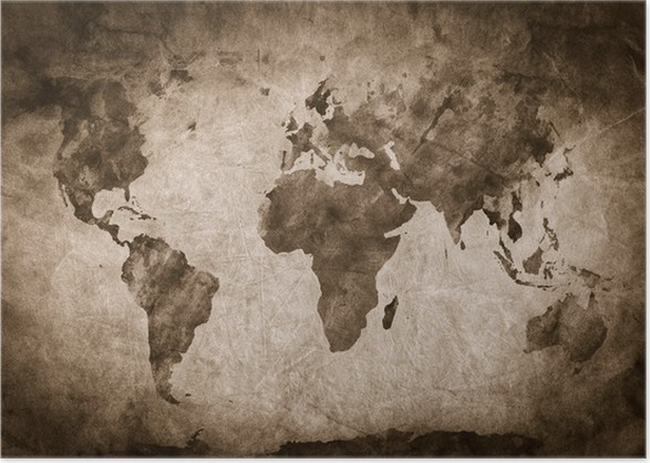 Ancient old world map a sketch grunge vintage background poster ancient old world map a sketch grunge vintage background poster gumiabroncs Gallery
