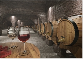 Ancient wine cellar Poster