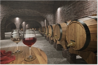 Ancient wine cellar Poster