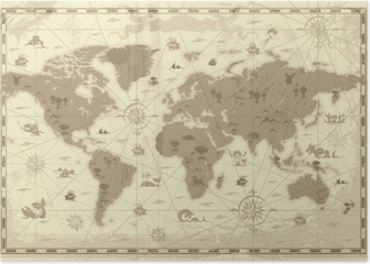 Ancient world map poster pixers we live to change gumiabroncs Choice Image