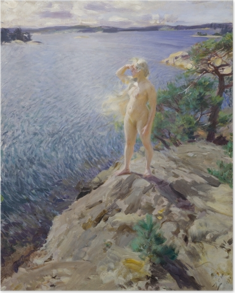Poster Anders Zorn - Dans les Skerries - Reproductions