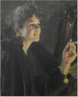 Poster Anders Zorn - Dívka s cigaretou