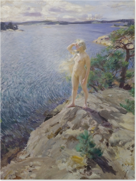 Póster Anders Zorn - En los islotes - Reproductions