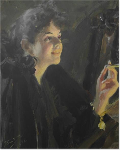 Poster Anders Zorn - La fille aux cigarettes - Reproductions