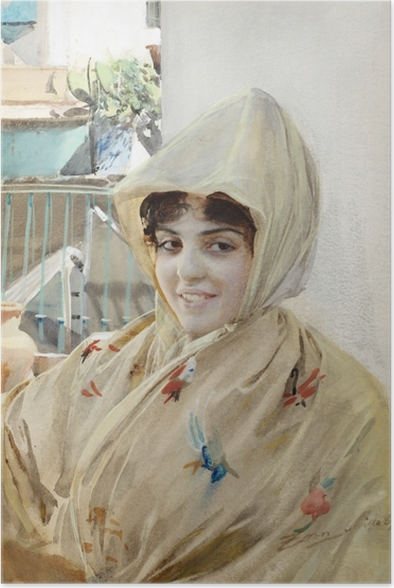 Poster Anders Zorn - Mathilde - Reproductions