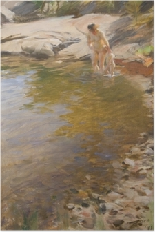 Poster Anders Zorn - Toilette matinale