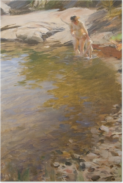 Poster Anders Zorn - Toilette matinale - Reproductions