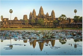 Poster Angkor Wat, Siem Reap, Cambodge.