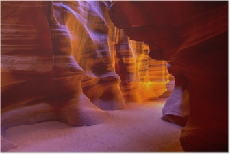 Póster Antelope Canyon Arizona en tierra Navajo cerca de página