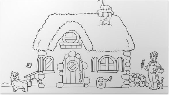 Póster Antiguo granja para colorear para los niños • Pixers ...