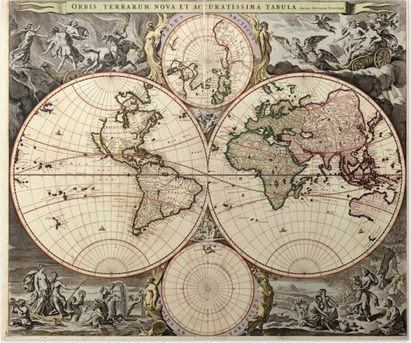 Antique world map Poster • Pixers® • We live to change