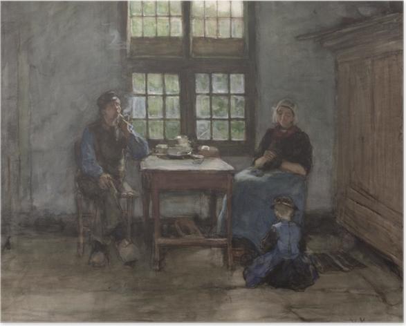 Poster Anton Mauve - Intérieur de maison à Laren - Reproductions