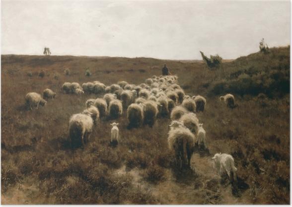 Anton Mauve - The Return of the Flock, Laren Poster - Reproductions