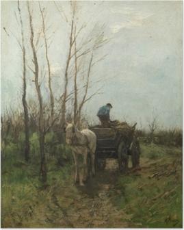 Poster Anton Mauve - Verzamelen van hout