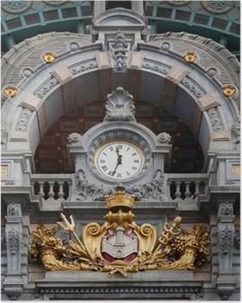Poster Antwerpen-Centraal klok