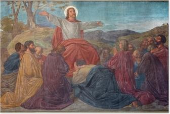Poster Antwerpen - Preek van Jezus scene in Joriskerk - fresco