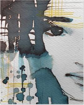 Poster Aquarel illustratie