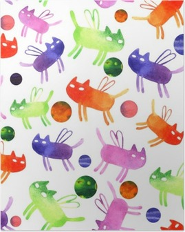 Poster Aquarelle chat