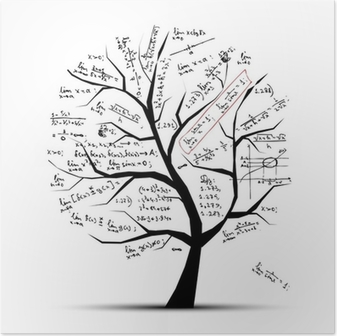Poster Arbre de maths pour votre conception