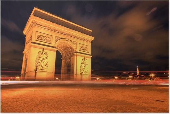 arc de triomphe at night paris poster pixers we live to change