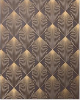 Art Deco Pattern Poster