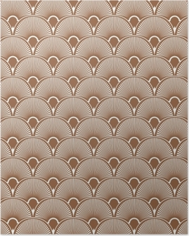 Art Deco Seamless Pattern Background. Vector Poster