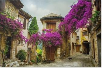 Poster Art magnifique vieille ville de Provence
