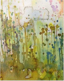 Artystyczne tło akwarelowe, Poster
