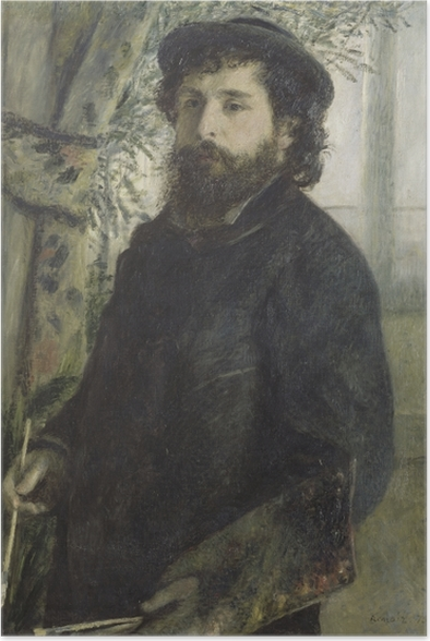 Auguste Renoir - Portrait of Claude Monet Poster - Reproductions