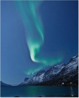 Poster Aurora Borealis en Norvège, qui se traduit