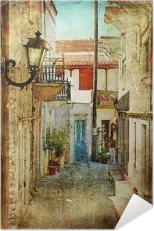 Póster Autoadhesivo Antiguos griegos calles-artístico imagen