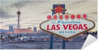 Póster Autoadhesivo Bienvenido a Las Vegas signo