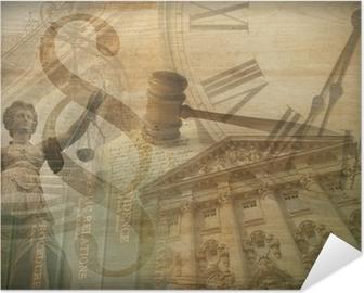 Póster Autoadhesivo Collage de justicia