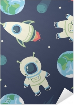 Póster Autoadhesivo cosmonauta