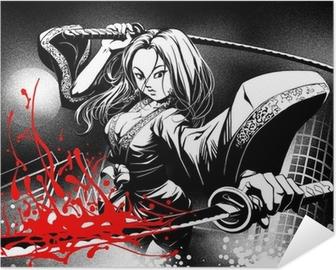 Póster Autoadhesivo Cuando se reúnen los cómics manga
