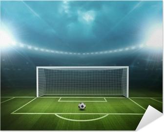 Póster Autoadhesivo Estadio con balón de fútbol