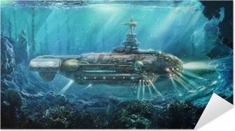 Póster Autoadhesivo Fantástico submarino