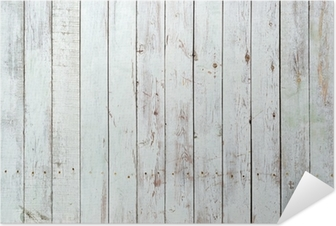 Póster Autoadhesivo Fondo blanco y negro de la tabla de madera
